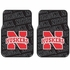 Front Seat Rubber Floor Mats - Car Truck SUV - UN University of Nebraska Cornhuskers