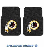 Front Seat Rubber Floor Mats - Car Truck SUV - Washington Redskins