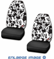 Front Universal Bucket Seat Covers - Car Truck SUV - Disney - Mickey Mouse - Expressions - PAIR