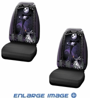 Front Universal Bucket Seat Covers - Car Truck SUV - Disney - Nightmare Before Christmas - Jack Graveyard - PAIR