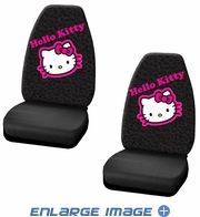 Front Universal Bucket Seat Covers - Car Truck SUV - Sanrio - Hello Kitty - Collage - PAIR