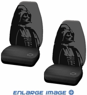 Front Universal Bucket Seat Covers - Car Truck SUV - Star Wars - Darth Vader - PAIR