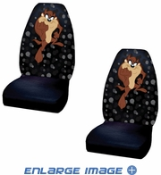 Front Universal Bucket Seat Covers - Car Truck SUV - Warner Bros. - Taz - Attitude