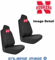 Front Universal-Fit Bucket Seat Covers - UN University of Nebraska Cornhuskers - Pair