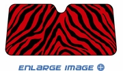 Front Windshield Sunshade - Accordion Style - Car Truck SUV - Animal Print - Red Zebra