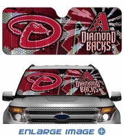 Front Windshield Sunshade - Accordion Style - Car Truck SUV - Arizona Diamondbacks
