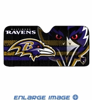 Front Windshield Sunshade - Accordion Style - Car Truck SUV - Baltimore Ravens