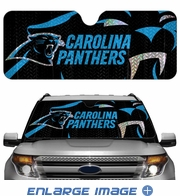 Front Windshield Sunshade - Accordion Style - Car Truck SUV - Carolina Panthers