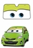 Front Windshield Sunshade - Accordion Style - Car Truck SUV - Cars - Green
