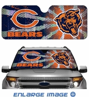 Front Windshield Sunshade - Accordion Style - Car Truck SUV - Chicago Bears