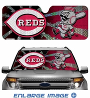 Front Windshield Sunshade - Accordion Style - Car Truck SUV - Cincinnati Reds
