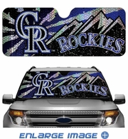 Front Windshield Sunshade - Accordion Style - Car Truck SUV - Colorado Rockies