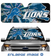 Front Windshield Sunshade - Accordion Style - Car Truck SUV - Detroit Lions