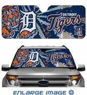 Front Windshield Sunshade - Accordion Style - Car Truck SUV - Detroit Tigers