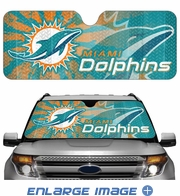 Front Windshield Sunshade - Accordion Style - Car Truck SUV - Miami Dolphins