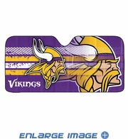 Front Windshield Sunshade - Accordion Style - Car Truck SUV - Minnesota Vikings