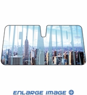 Front Windshield Sunshade - Accordion Style - Car Truck SUV - New York