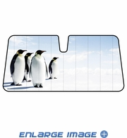 Front Windshield Sunshade - Accordion Style - Car Truck SUV - Penguins