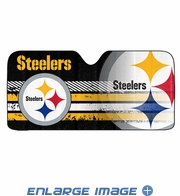 Front Windshield Sunshade - Accordion Style - Car Truck SUV - Pittsburgh Steelers