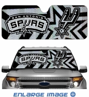 Front Windshield Sunshade - Accordion Style - Car Truck SUV - San Antonio Spurs