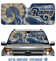 Front Windshield Sunshade - Accordion Style - Car Truck SUV - St. Louis Rams