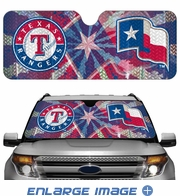 Front Windshield Sunshade - Accordion Style - Car Truck SUV - Texas Rangers