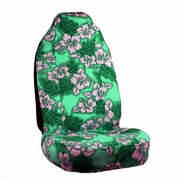 Green Hawaiian Flower Print Seat Covers