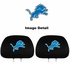 Headrest Covers - Car Truck SUV - Detroit Lions - Pair