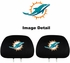 Headrest Covers - Car Truck SUV - Miami Dolphins - Pair