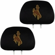Headrest Covers - Car Truck SUV - NCAA - Wyoming Cowboys - pair