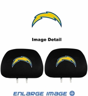 Headrest Covers - Car Truck SUV - San Diego Chargers - Pair