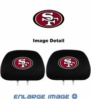 Headrest Covers - Car Truck SUV - San Francisco 49ers - Pair