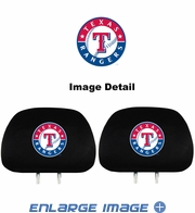 Headrest Covers - Car Truck SUV - Texas Rangers - Pair