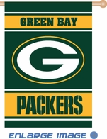 House Flag Banner Outdoor/Indoor - 2 sided - Green Bay Packers