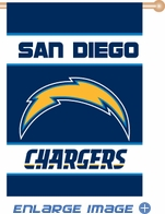 House Flag Banner Outdoor/Indoor - 2 sided - San Diego Chargers