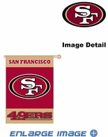 House Flag Banner Outdoor/Indoor - 2 sided - San Francisco 49ers