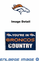 House Flag Banner Outdoor/Indoor - 3 x 5 Country Style - Denver Broncos