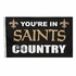 House Flag Banner Outdoor/Indoor - 3 x 5 Country Style - New Orleans Saints
