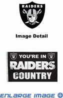 House Flag Banner Outdoor/Indoor - 3 x 5 Country Style - Oakland Raiders