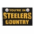 House Flag Banner Outdoor/Indoor - 3 x 5 Country Style - Pittsburgh Steelers