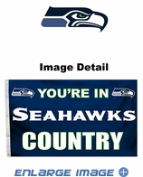 House Flag Banner Outdoor/Indoor - 3 x 5 Country Style - Seattle Seahawks