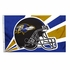 House Flag Banner Outdoor/Indoor - 3 x 5 Helmet Style - Baltimore Ravens