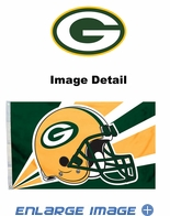 House Flag Banner Outdoor/Indoor - 3 x 5 Helmet Style - Green Bay Packers