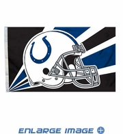 House Flag Banner Outdoor/Indoor - 3 x 5 Helmet Style - Indianapolis Colts