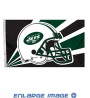 House Flag Banner Outdoor/Indoor - 3 x 5 Helmet Style - New York Jets