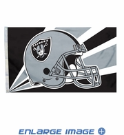 House Flag Banner Outdoor/Indoor - 3 x 5 Helmet Style - Oakland Raiders
