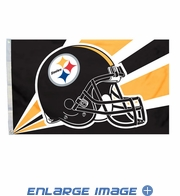 House Flag Banner Outdoor/Indoor - 3 x 5 Helmet Style - Pittsburgh Steelers