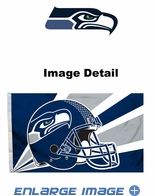 House Flag Banner Outdoor/Indoor - 3 x 5 Helmet Style - Seattle Seahawks