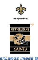 House Flag Banner Outdoor/Indoor - Double Sided - New Orleans Saints