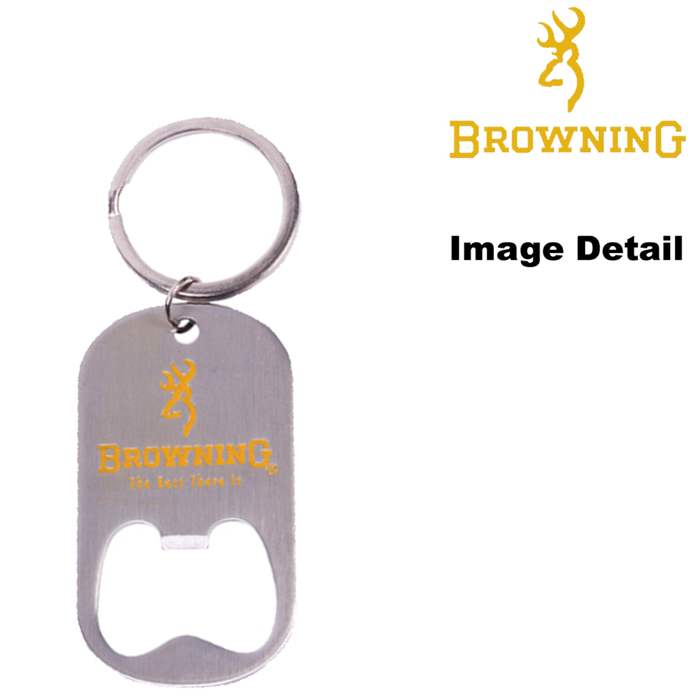 Key Chain - Bottle Opener - Camouflage - Browning Arms Company - Gold Buckmark